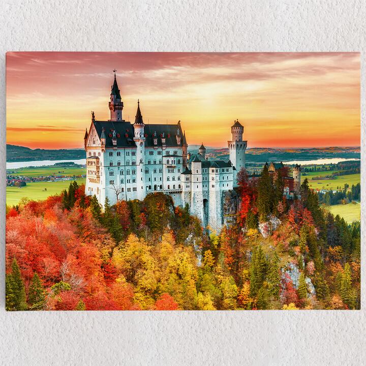 Personalisiertes Leinwandbild Schloss Neuschwanstein