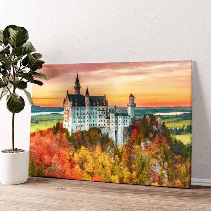 Schloss Neuschwanstein Wandbild personalisiert