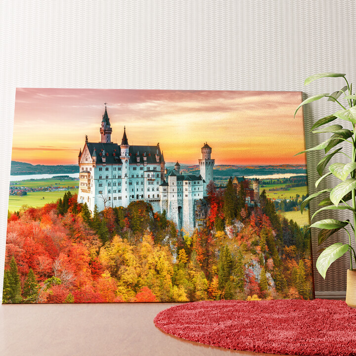 Personalisiertes Wandbild Schloss Neuschwanstein