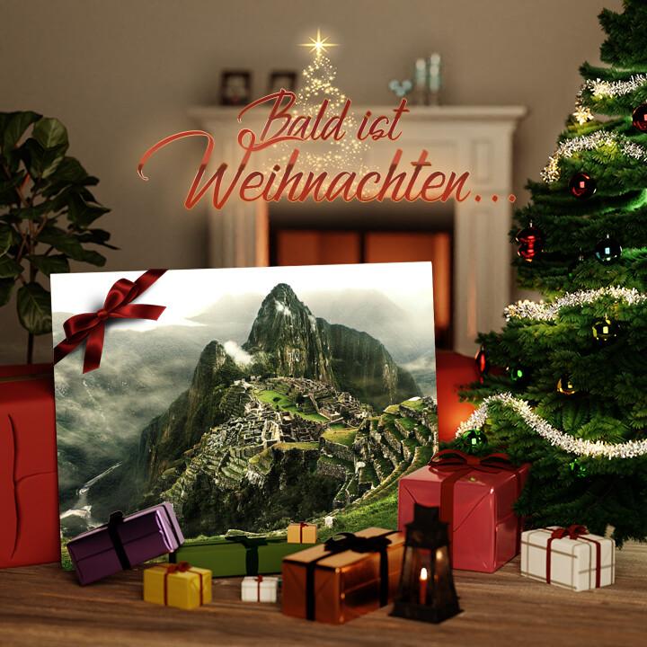 Liebesleinwand zu Weichnachten Machu Picchu