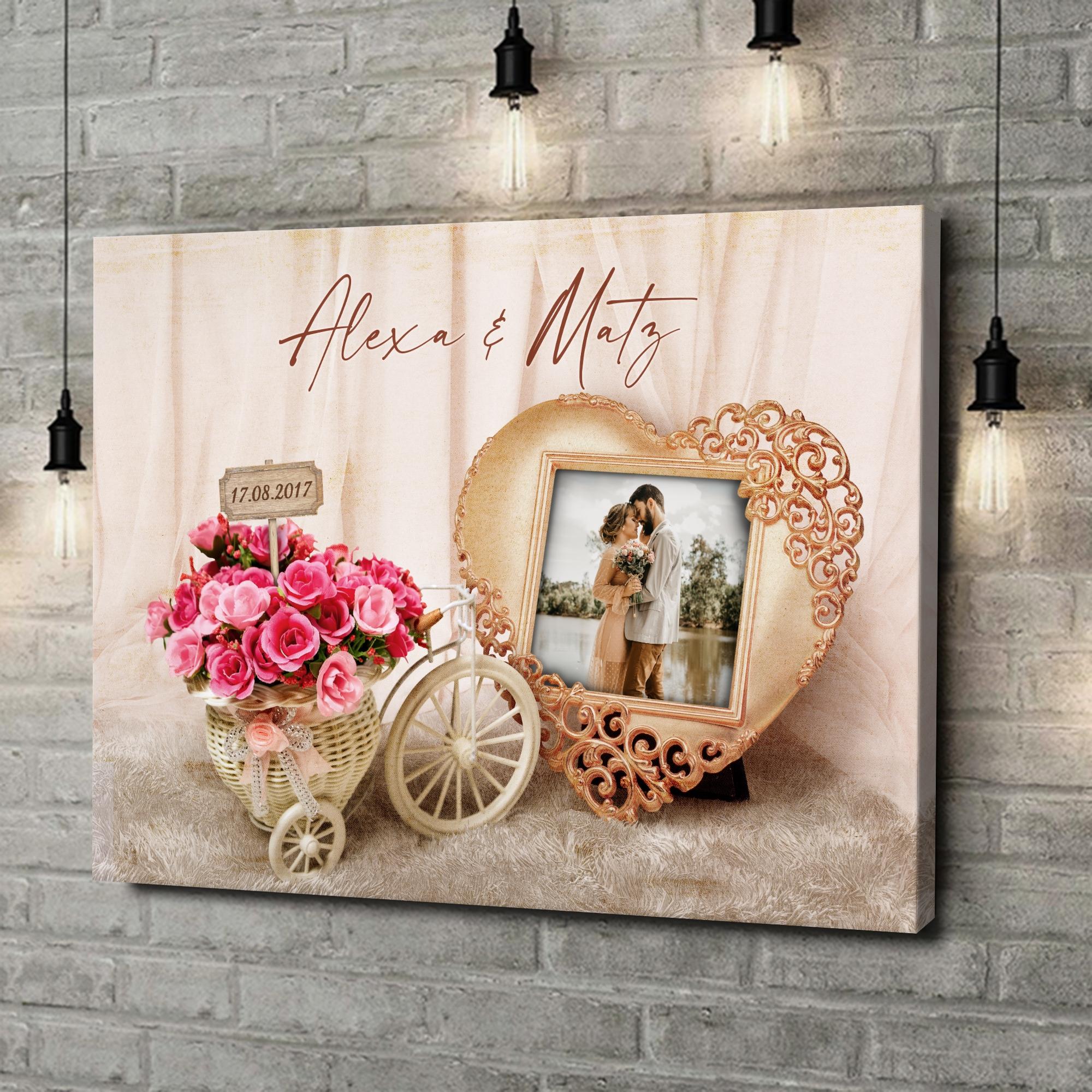 Leinwandbild personalisiert Hochzeitsgefühle