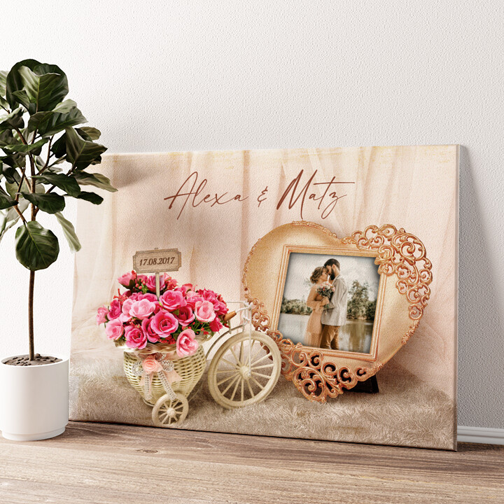Hochzeitsgefühle Wandbild personalisiert