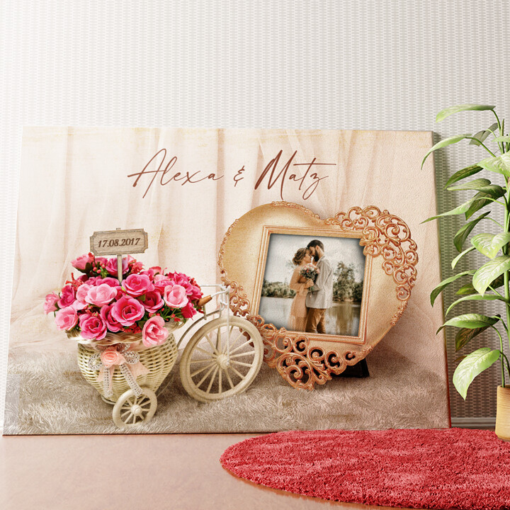 Personalisiertes Wandbild Hochzeitsgefühle