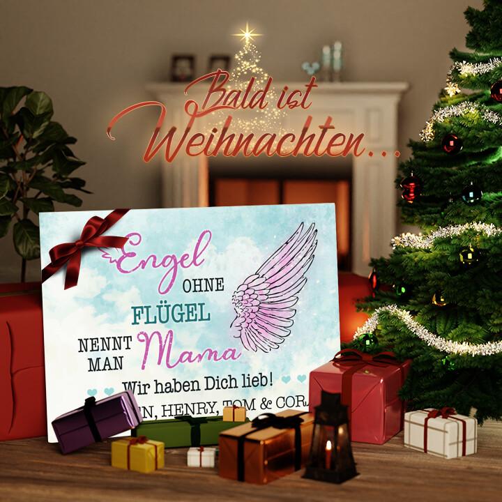 Liebesleinwand zu Weichnachten Engel der Familie
