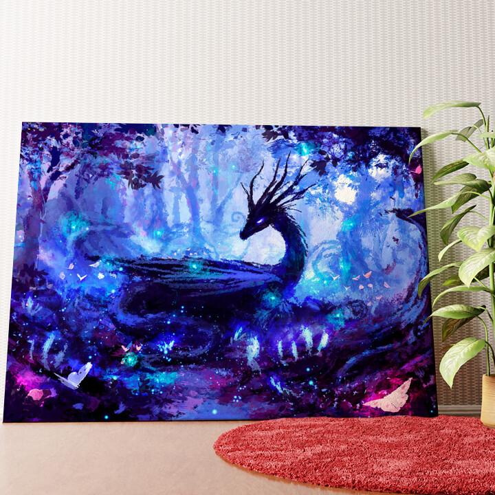 Personalisiertes Wandbild Fantasy Drache