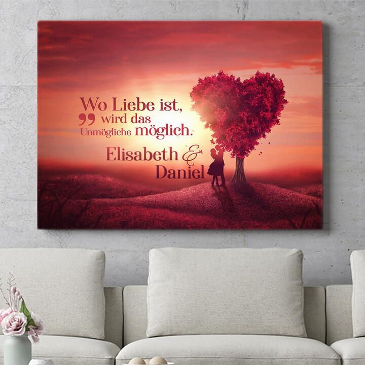 Personalisierbares Geschenk Love Tree