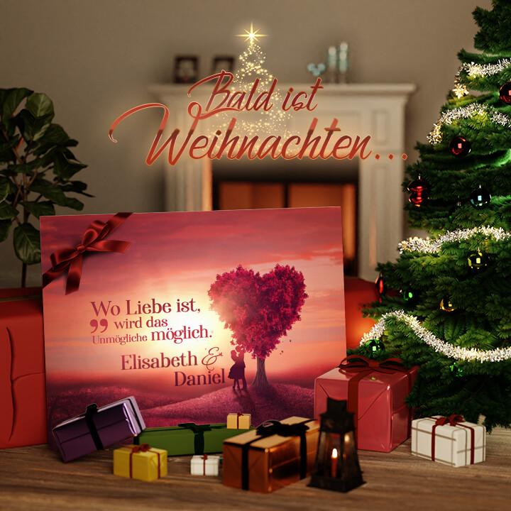 Liebesleinwand zu Weichnachten Love Tree