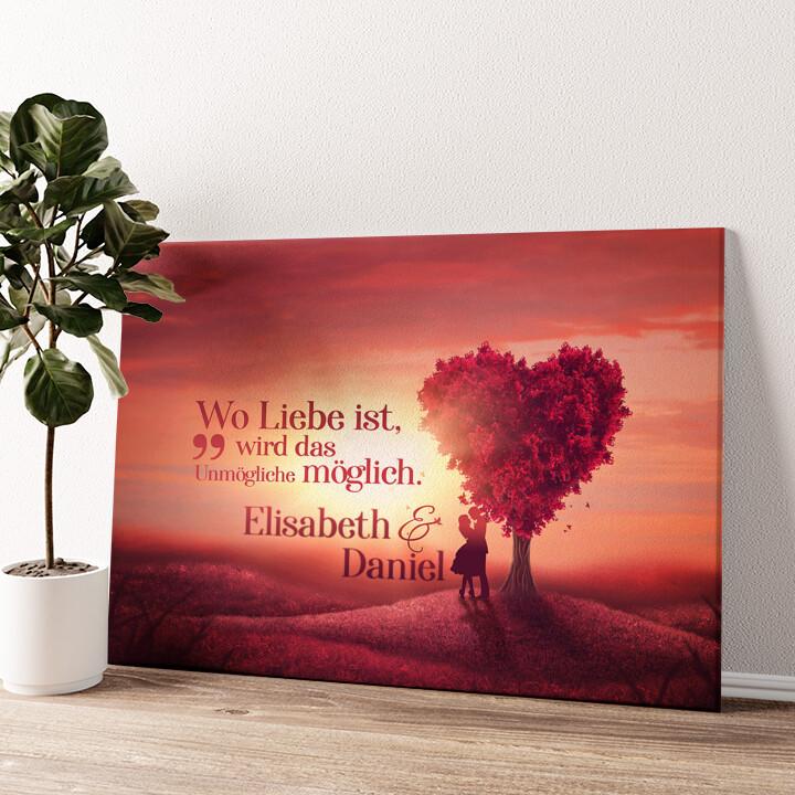Love Tree Wandbild personalisiert
