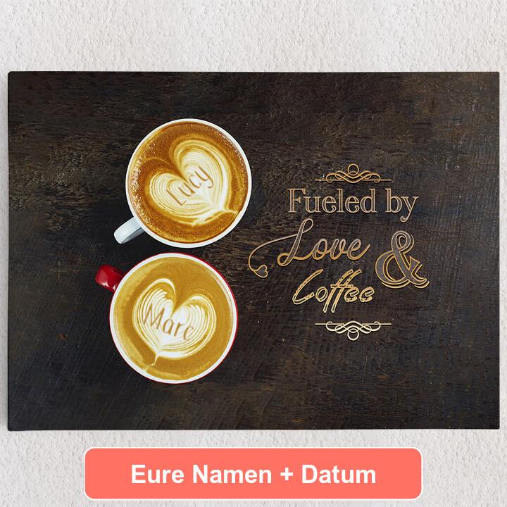 Personalisiertes Leinwandbild Coffee