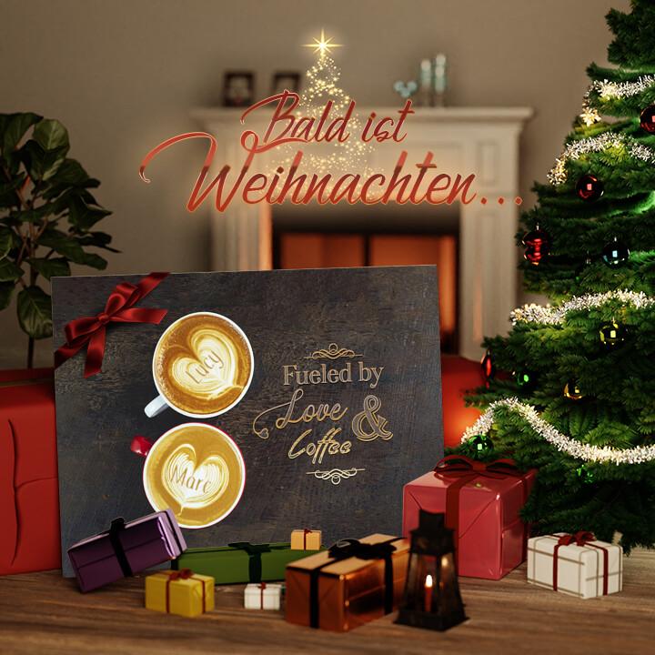 Liebesleinwand zu Weichnachten Coffee