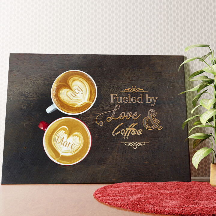 Personalisiertes Wandbild Coffee