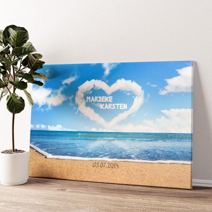 Clouds Wandbild personalisiert