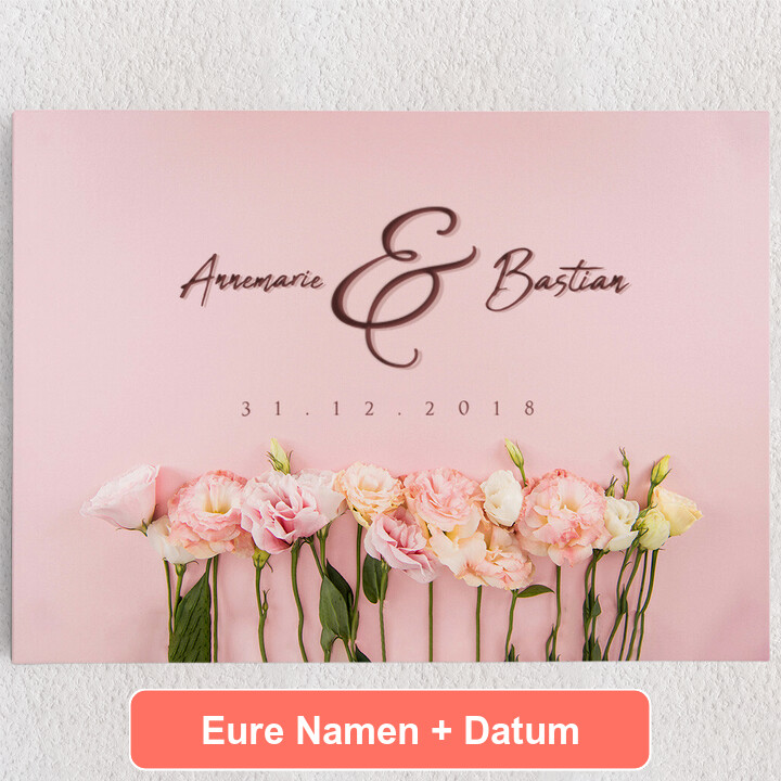 Personalisiertes Leinwandbild Flowers