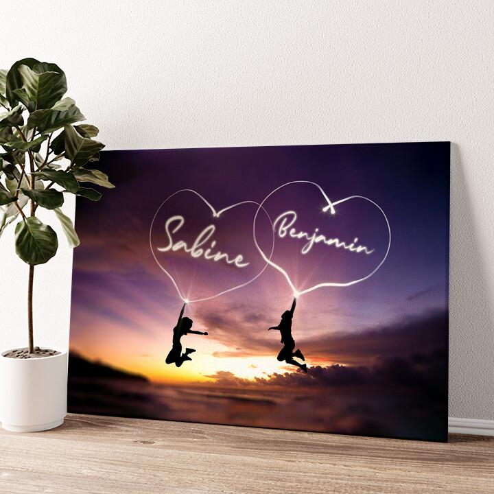 Happiness Wandbild personalisiert