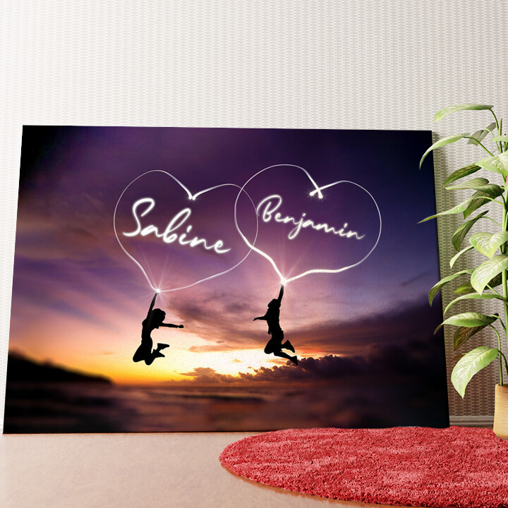 Personalisiertes Wandbild Happiness