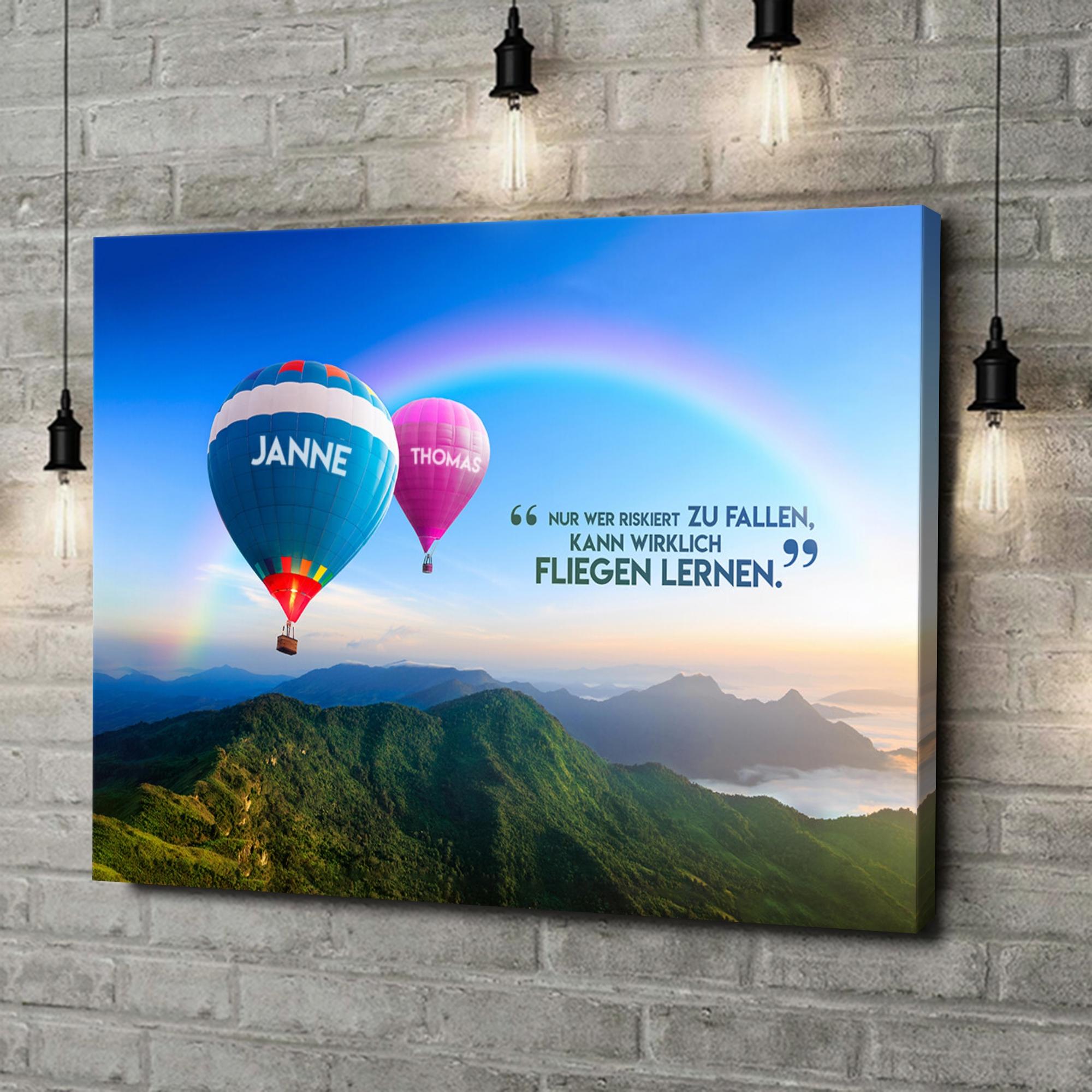 Leinwandbild personalisiert Balloons