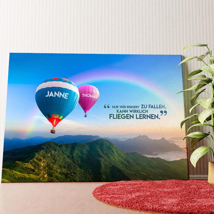 Personalisiertes Wandbild Balloons