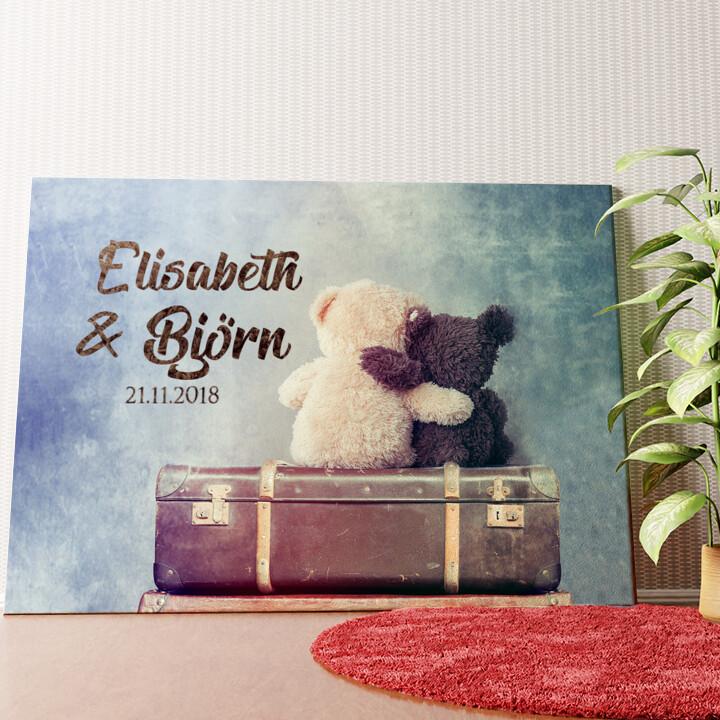 Personalisiertes Wandbild Teddybears
