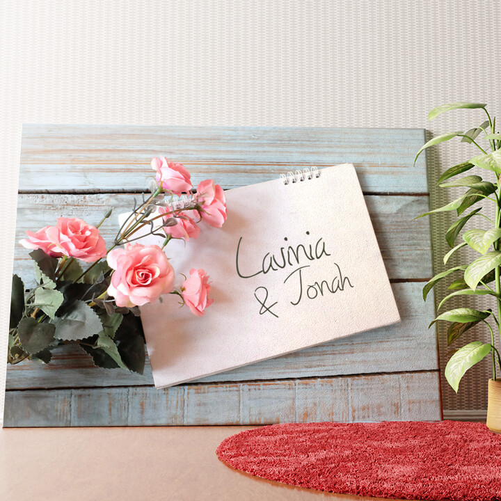 Personalisiertes Wandbild Love Letter
