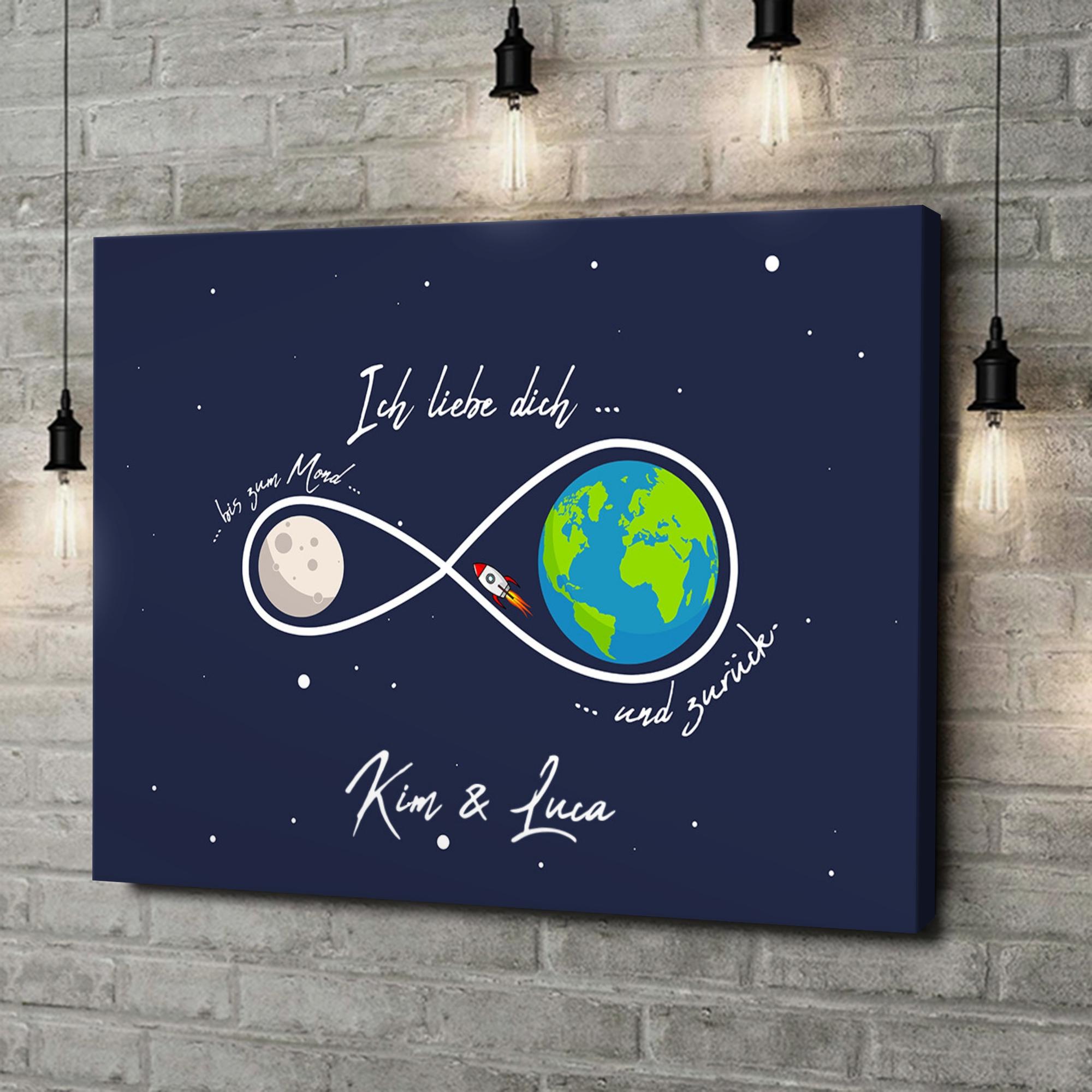 Leinwandbild personalisiert Infinity