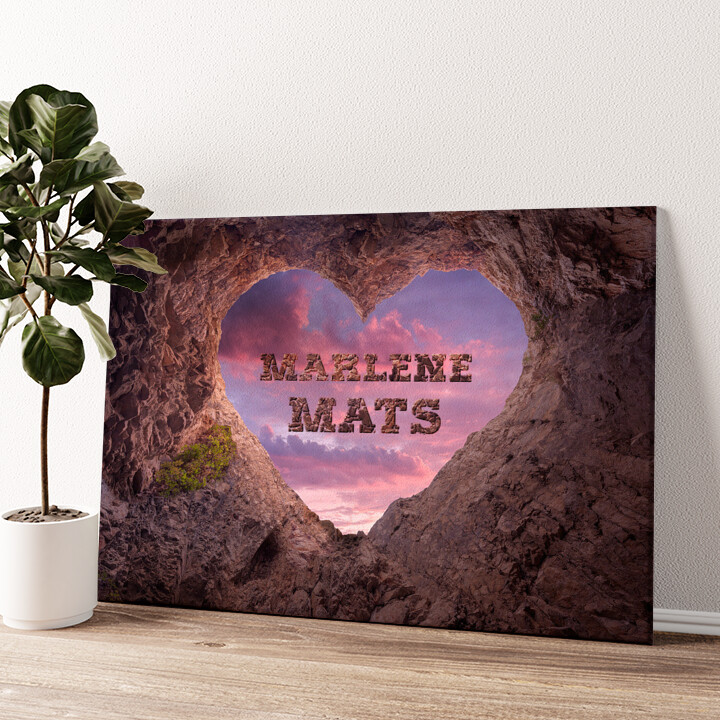 Rock Solid Love Wandbild personalisiert
