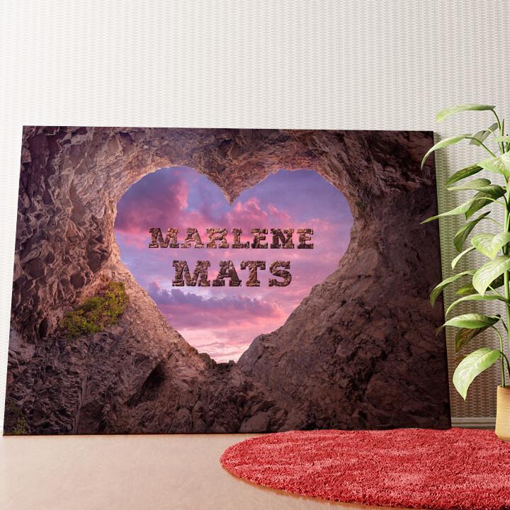 Personalisiertes Wandbild Rock Solid Love