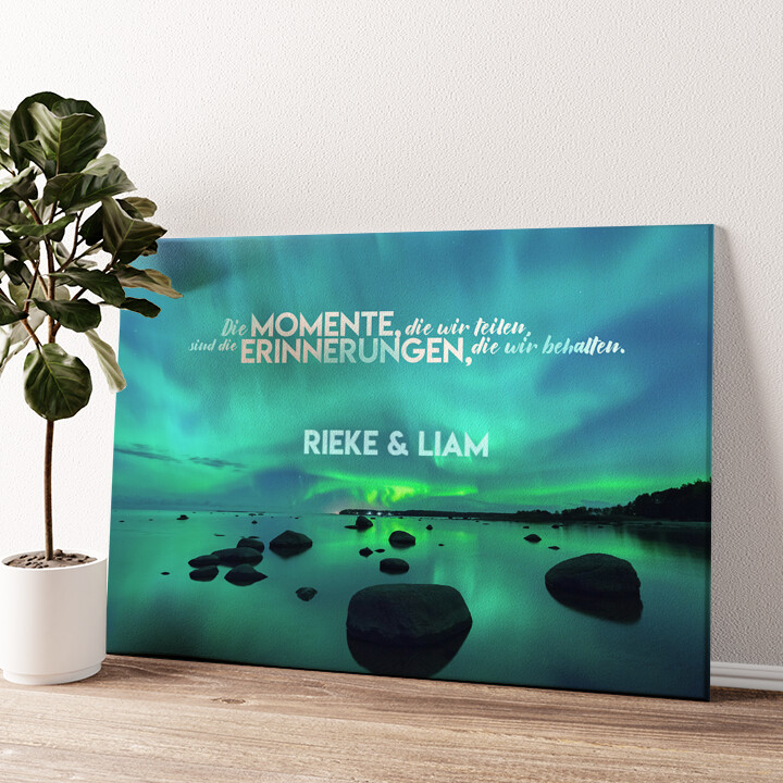 Northern Love Wandbild personalisiert