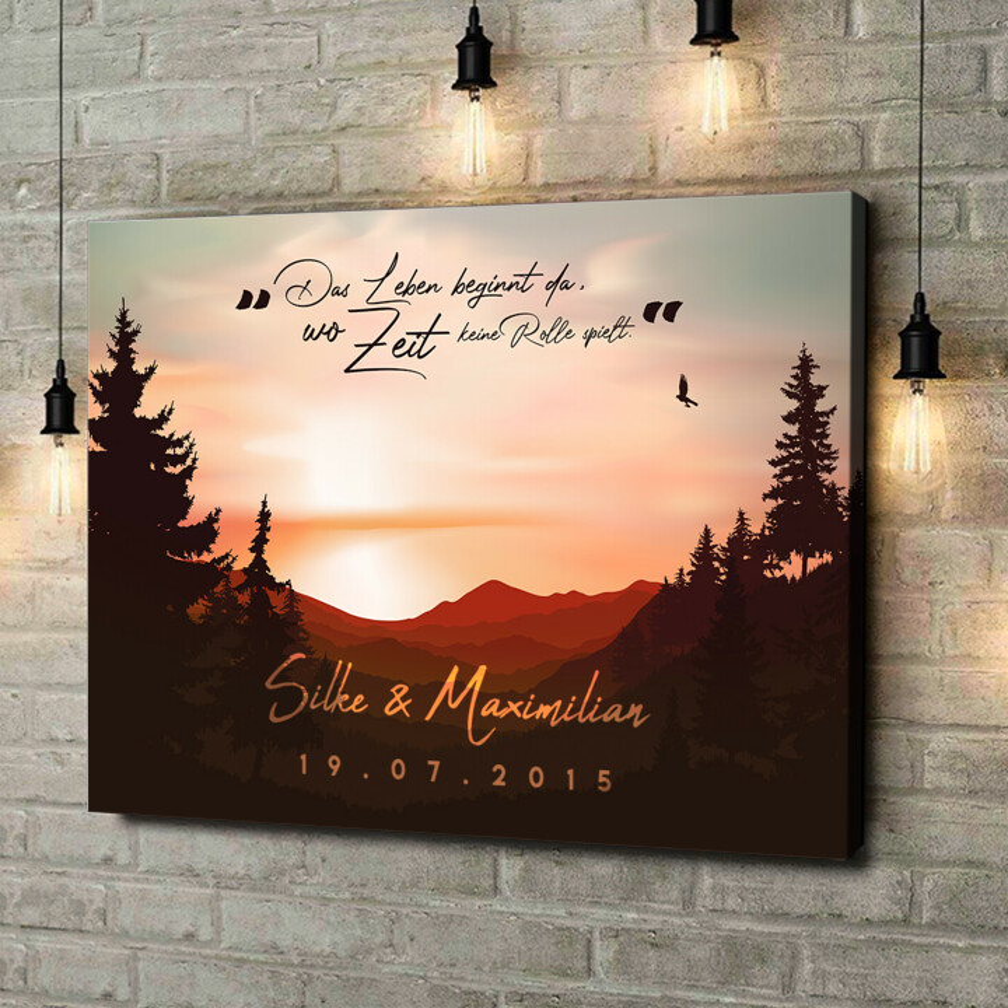 Leinwandbild personalisiert Sunset