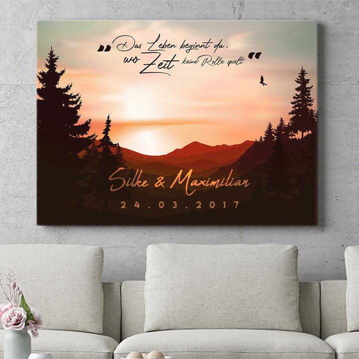 Personalisierbares Geschenk Sunset