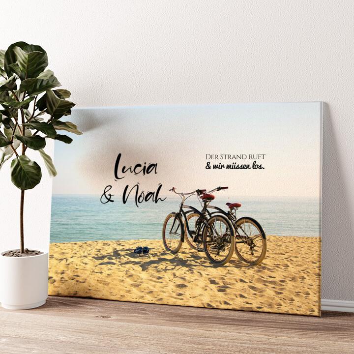 Cycling Moments Wandbild personalisiert