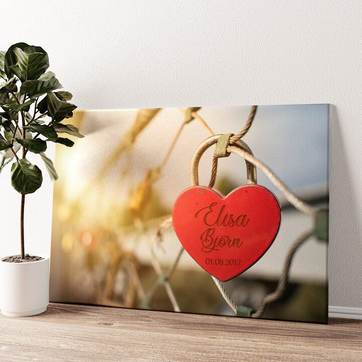Locked Love Wandbild personalisiert
