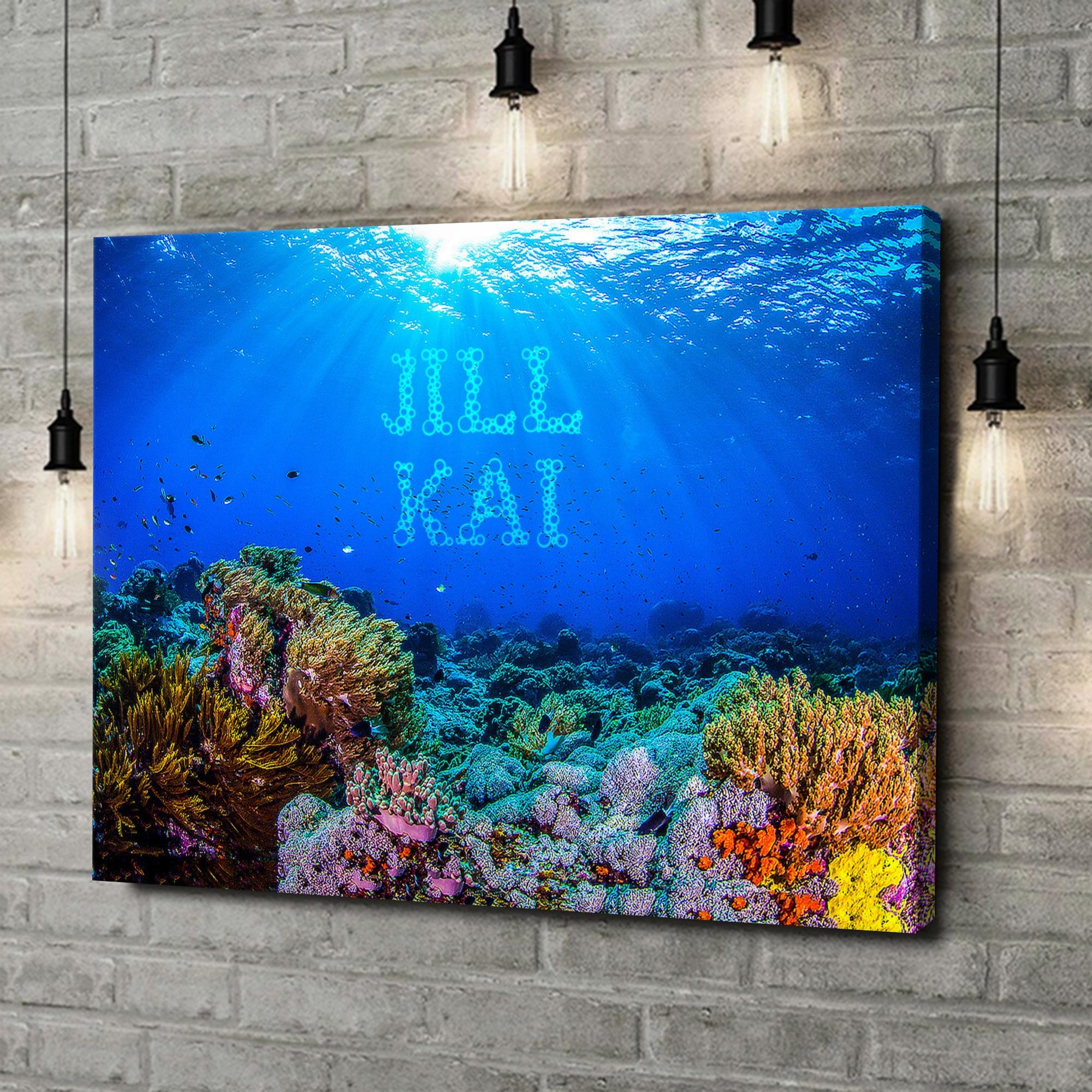 Leinwandbild personalisiert Under the Sea