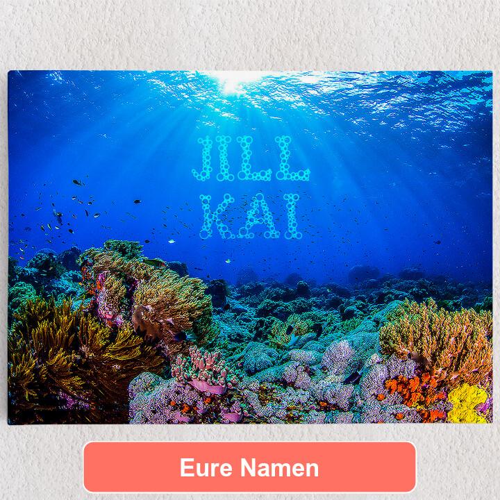 Personalisiertes Leinwandbild Under the Sea