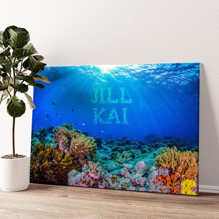 Under the Sea Wandbild personalisiert