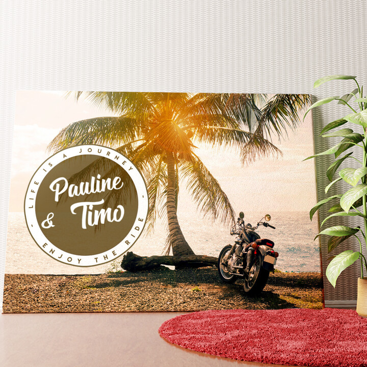Personalisiertes Wandbild Biker Love