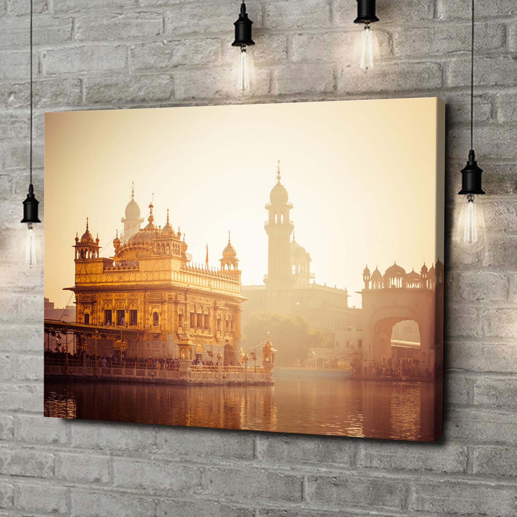 Leinwandbild personalisiert Sikh Gurdwara Goldener Tempel Punjab Indien