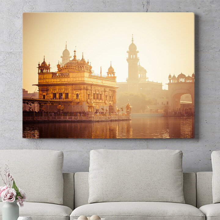 Personalisierbares Geschenk Sikh Gurdwara Goldener Tempel Punjab Indien