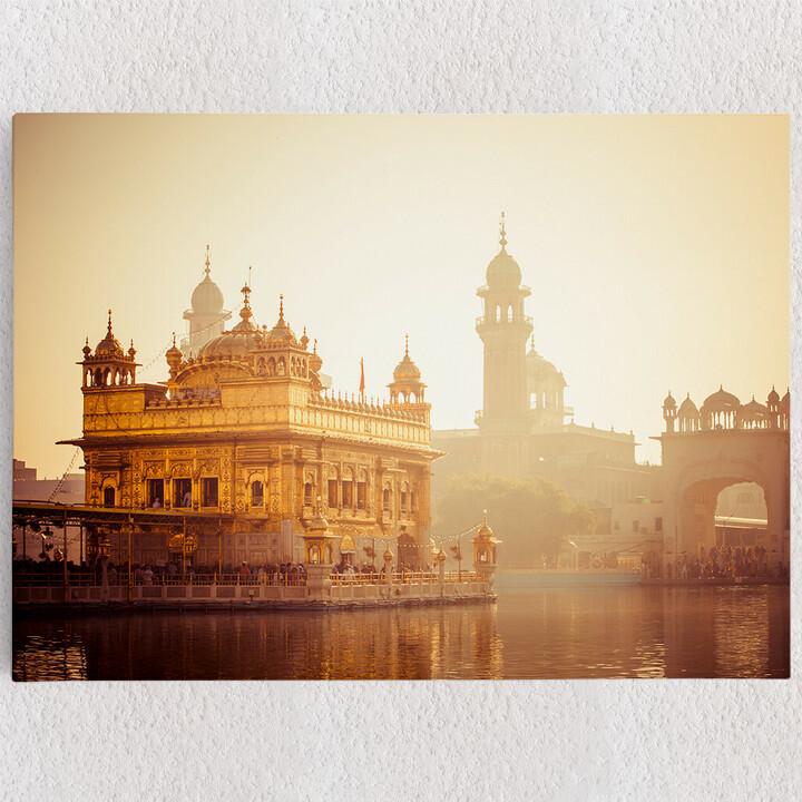 Personalisiertes Leinwandbild Sikh Gurdwara Goldener Tempel Punjab Indien
