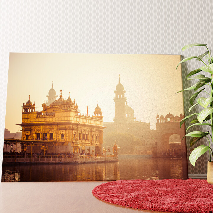 Personalisiertes Wandbild Sikh Gurdwara Goldener Tempel Punjab Indien