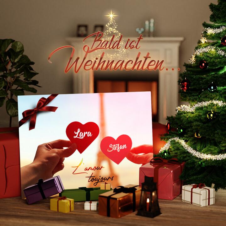 Liebesleinwand zu Weichnachten L'amour Toujours