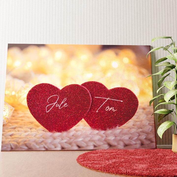 Personalisiertes Wandbild Couple Hearts