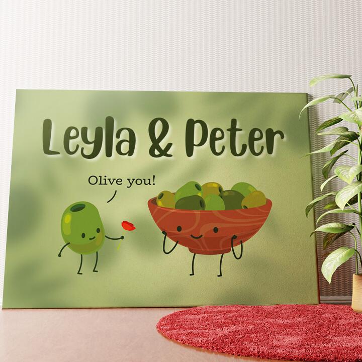Personalisiertes Wandbild Olive You