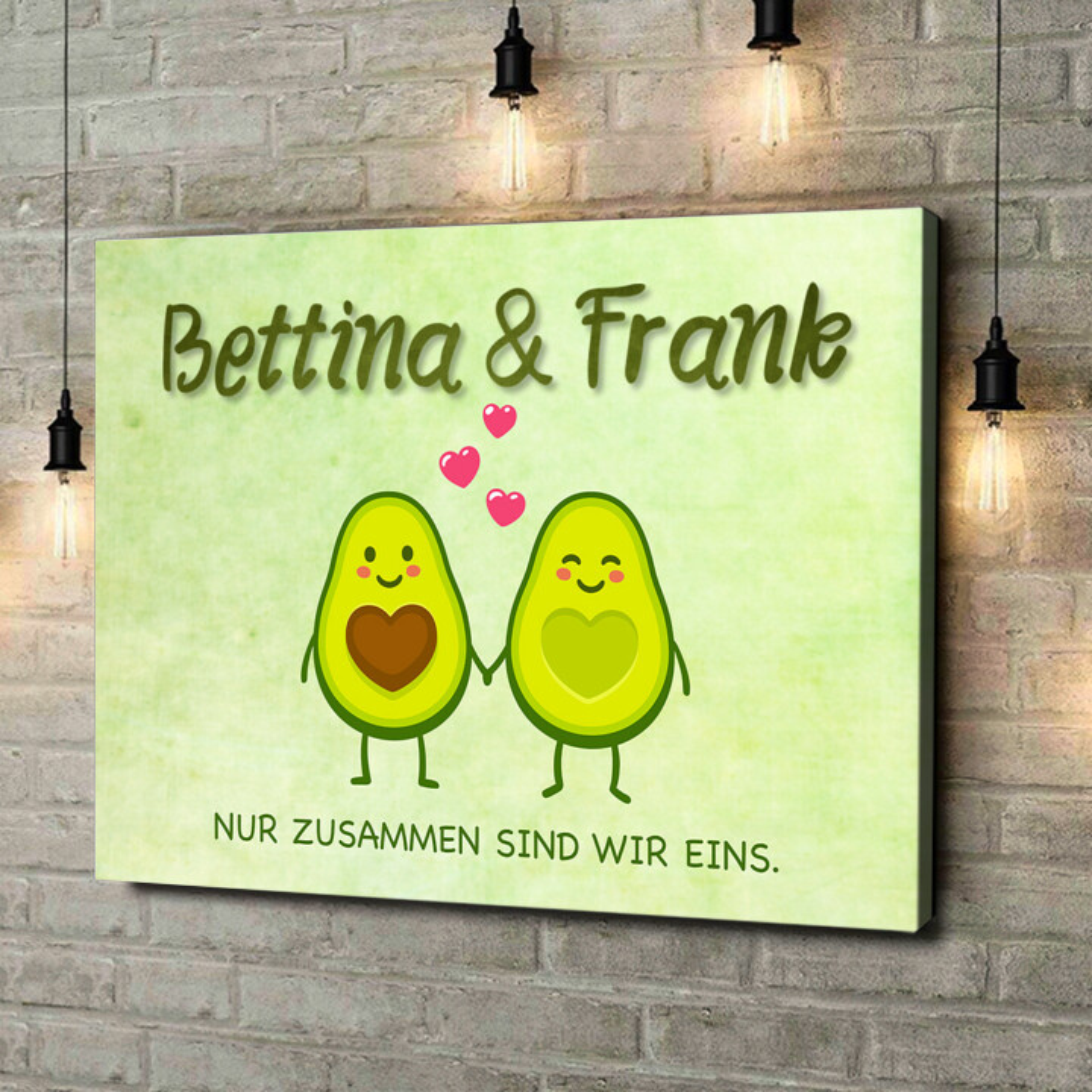 Leinwandbild personalisiert Avocado