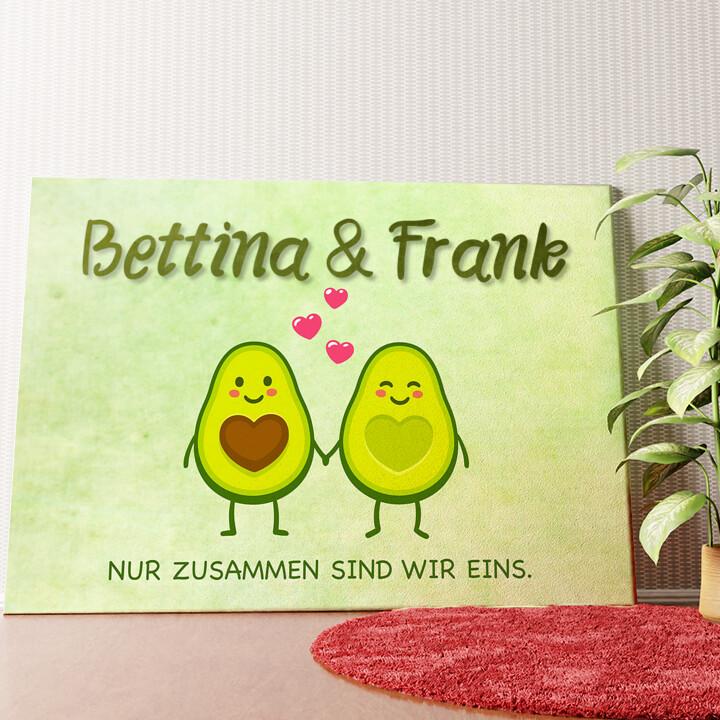 Personalisiertes Wandbild Avocado