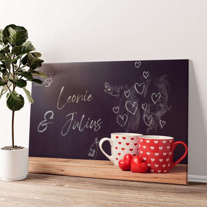 Chalkboard Wandbild personalisiert