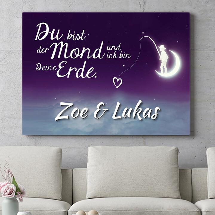 Personalisierbares Geschenk Moon Love