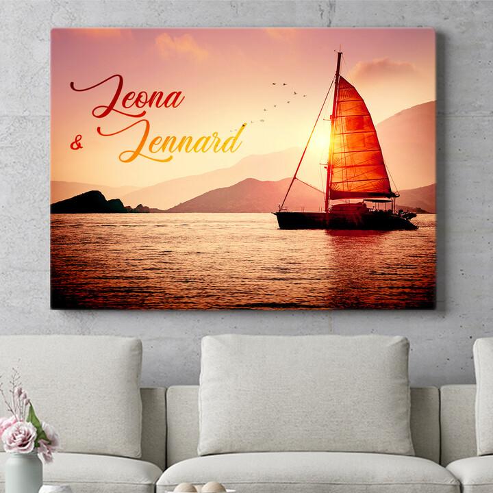 Personalisierbares Geschenk Sailing Love