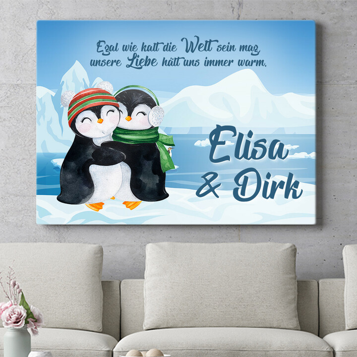 Personalisierbares Geschenk Penguins