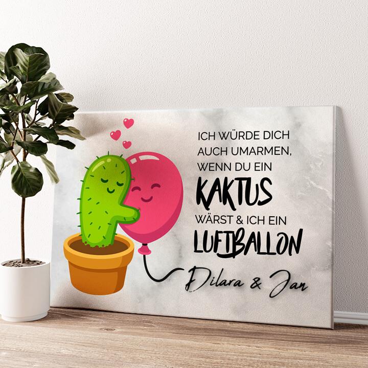 Cactus Balloons Wandbild personalisiert