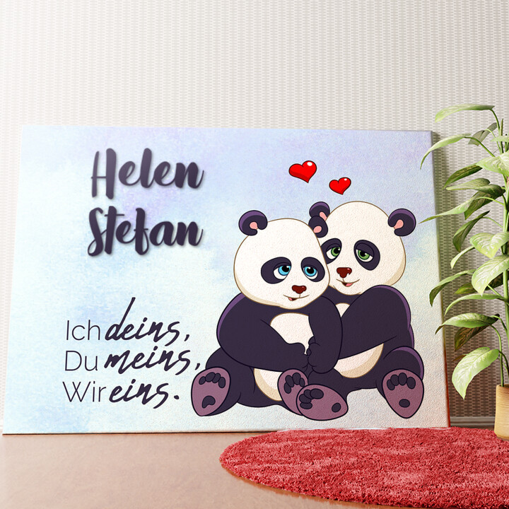Personalisiertes Wandbild Pandas